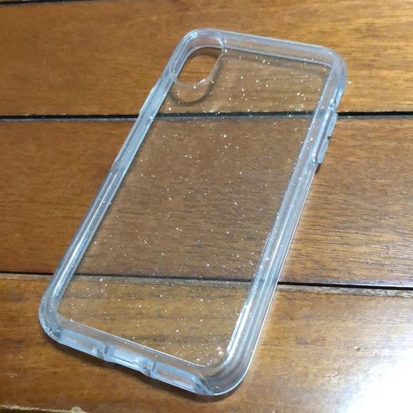 newest 5df48 4d6ec NEW IPHONE X CLEAR GLITTER CASE